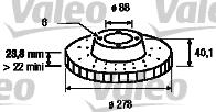 Disque de frein - VALEO - 197195