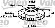 Disque de frein - VALEO - 197207