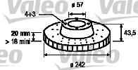Disque de frein - VALEO - 197208