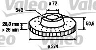 Disque de frein - VALEO - 197211