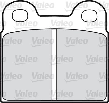 Kit de plaquettes de frein, frein à disque - VALEO - 598187