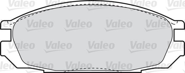 Kit de plaquettes de frein, frein à disque - VALEO - 598851