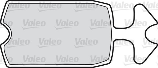 Kit de plaquettes de frein, frein à disque - VALEO - 598144
