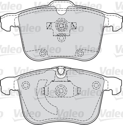 Kit de plaquettes de frein, frein à disque - VALEO - 598808