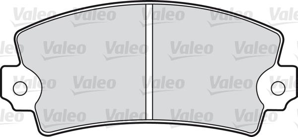 Kit de plaquettes de frein, frein à disque - VALEO - 598079