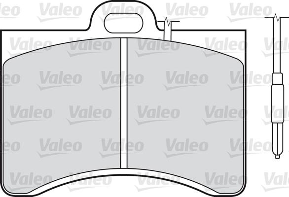 Kit de plaquettes de frein, frein à disque - VALEO - 598147
