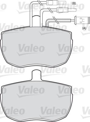 Kit de plaquettes de frein, frein à disque - VALEO - 598129