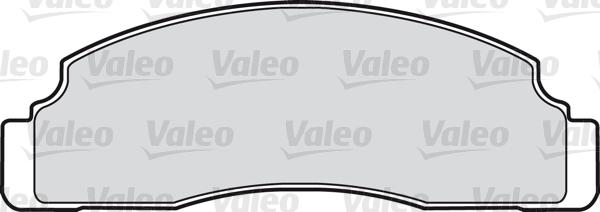 Kit de plaquettes de frein, frein à disque - VALEO - 598165