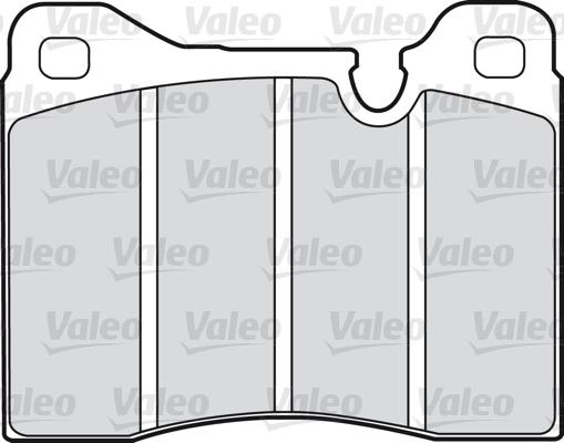 Kit de plaquettes de frein, frein à disque - VALEO - 598107