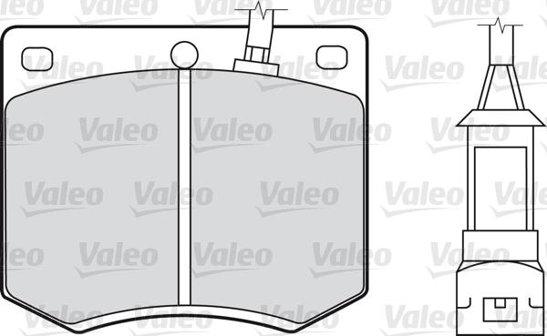 Kit de plaquettes de frein, frein à disque - VALEO - 598168
