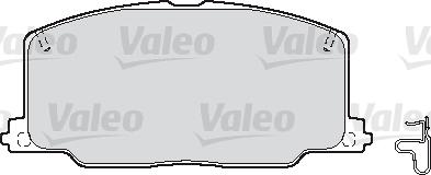 Kit de plaquettes de frein, frein à disque - VALEO - 598620