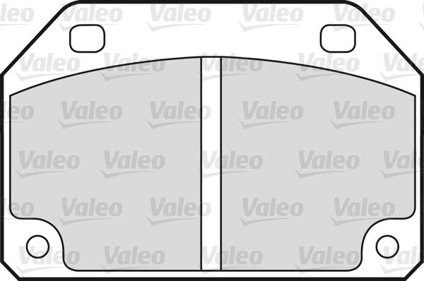 Kit de plaquettes de frein, frein à disque - VALEO - 598592