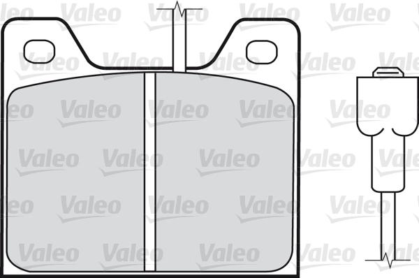 Kit de plaquettes de frein, frein à disque - VALEO - 598161