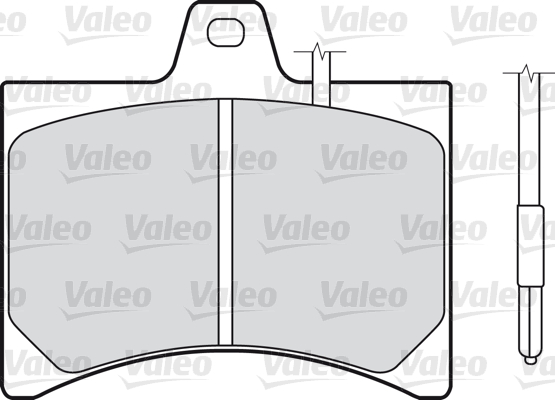Kit de plaquettes de frein, frein à disque - VALEO - 598150