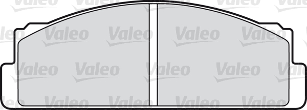 Kit de plaquettes de frein, frein à disque - VALEO - 598090