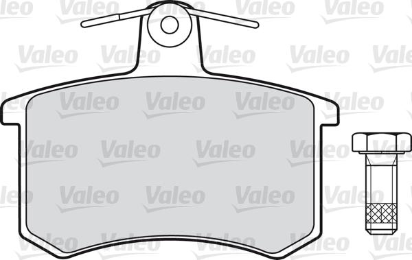 Kit de plaquettes de frein, frein à disque - VALEO - 598125