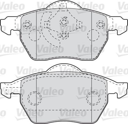 Kit de plaquettes de frein, frein à disque - VALEO - 601006