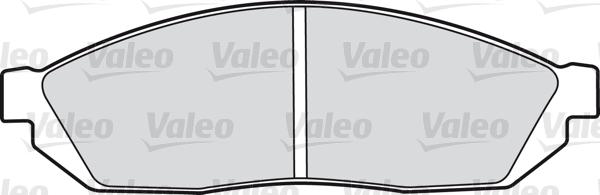 Kit de plaquettes de frein, frein à disque - VALEO - 598185