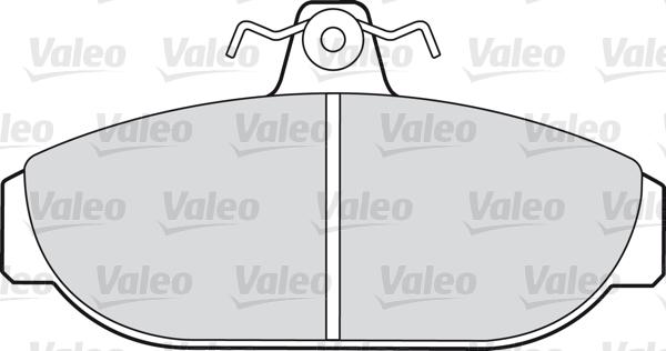 Kit de plaquettes de frein, frein à disque - VALEO - 598221