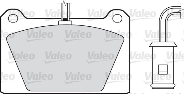 Kit de plaquettes de frein, frein à disque - VALEO - 598116