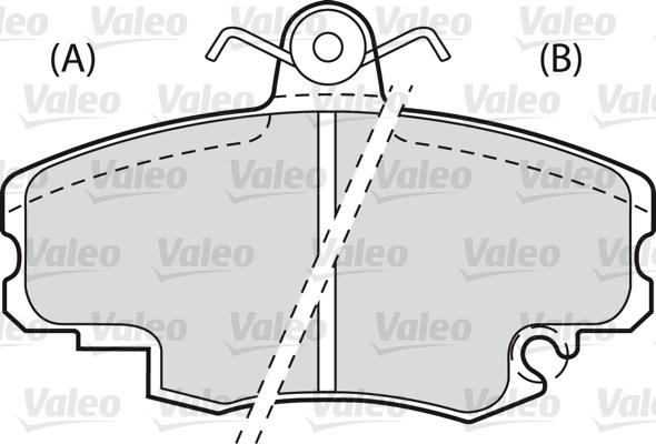 Kit de plaquettes de frein, frein à disque - VALEO - 598002