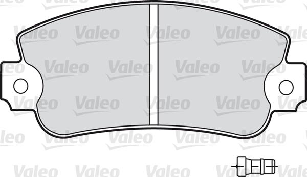 Kit de plaquettes de frein, frein à disque - VALEO - 598160