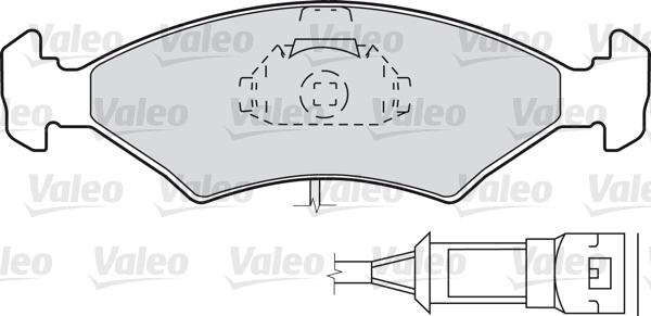 Kit de plaquettes de frein, frein à disque - VALEO - 598334