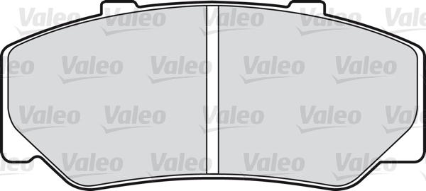 Kit de plaquettes de frein, frein à disque - VALEO - 598222