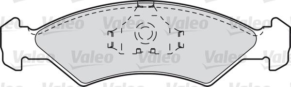 Kit de plaquettes de frein, frein à disque - VALEO - 598167