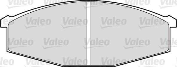 Kit de plaquettes de frein, frein à disque - VALEO - 598122