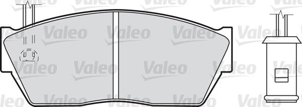 Kit de plaquettes de frein, frein à disque - VALEO - 598131