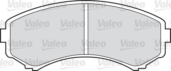 Kit de plaquettes de frein, frein à disque - VALEO - 598515