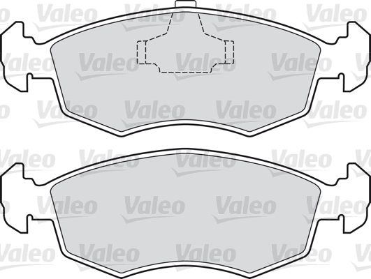 Kit de plaquettes de frein, frein à disque - VALEO - 598422