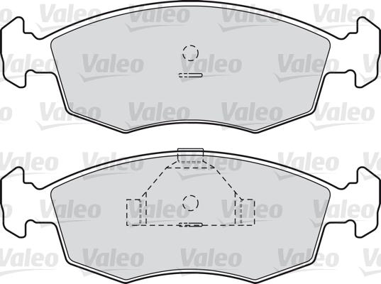 Kit de plaquettes de frein, frein à disque - VALEO - 598335