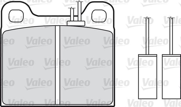 Kit de plaquettes de frein, frein à disque - VALEO - 598113