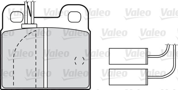 Kit de plaquettes de frein, frein à disque - VALEO - 598114