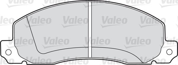 Kit de plaquettes de frein, frein à disque - VALEO - 598086