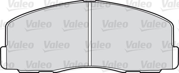 Kit de plaquettes de frein, frein à disque - VALEO - 598220