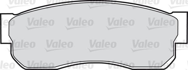 Kit de plaquettes de frein, frein à disque - VALEO - 598278