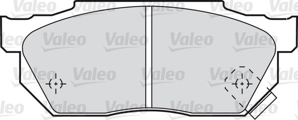 Kit de plaquettes de frein, frein à disque - VALEO - 598047