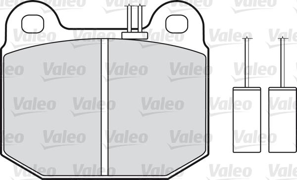 Kit de plaquettes de frein, frein à disque - VALEO - 598115