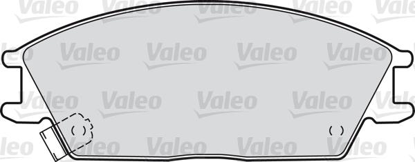 Kit de plaquettes de frein, frein à disque - VALEO - 598052