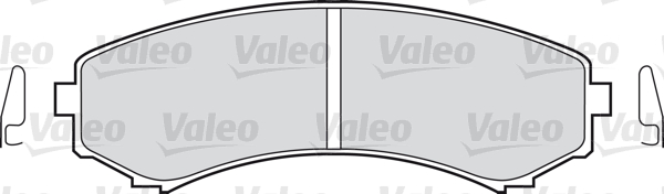 Kit de plaquettes de frein, frein à disque - VALEO - 598518