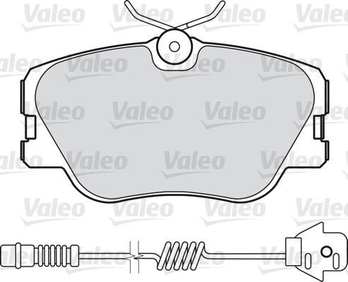 Kit de plaquettes de frein, frein à disque - VALEO - 598315