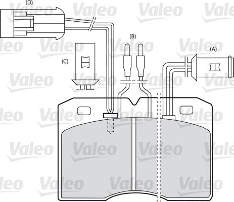Kit de plaquettes de frein, frein à disque - VALEO - 598007