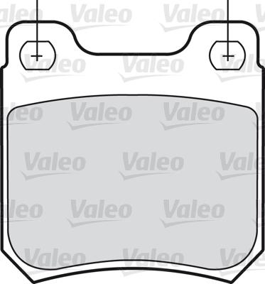 Kit de plaquettes de frein, frein à disque - VALEO - 598183