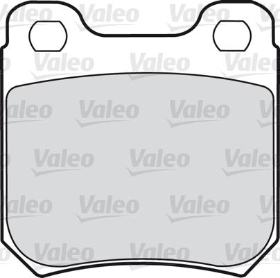 Kit de plaquettes de frein, frein à disque - VALEO - 598243