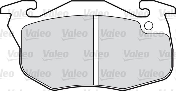 Kit de plaquettes de frein, frein à disque - VALEO - 598181
