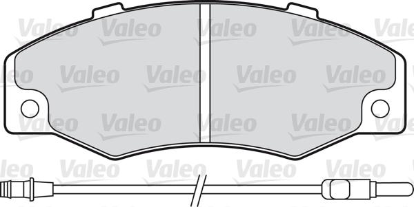Kit de plaquettes de frein, frein à disque - VALEO - 598082