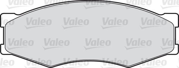 Kit de plaquettes de frein, frein à disque - VALEO - 598123